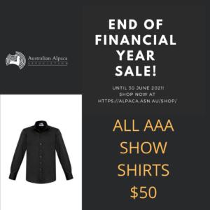 Shirts on sale until 30 June